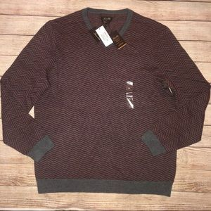 NWT Tasso Elba Men's Merino Wool Blend V-Neck XL